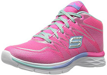 Skechers Kids Girls' Dream N'Dash-81463L Sneaker,Neon Pink/Aqua,