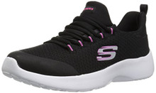 Skechers Kids Girls' Dynamight Sneaker, BKW