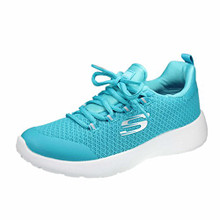 Skechers Kids Girls' Dynamight Sneaker, Teal