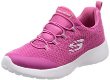Skechers Kids Girls' Dynamight-Race N'Run Sneaker,Pink