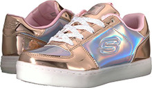 Skechers Kids Girls' Energy Lights-10947L Sneaker,Rosegold,