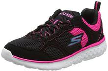 Skechers Kids Girls' Go Run 400 Sneaker,Black/hot Pink,