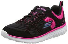 Skechers Kids Girls' Go Run 400 Sneaker,Black/hot Pink,