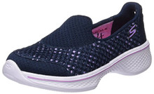 Skechers Kids Girls' Go Walk 4 Kindle Slip-On Sneaker,Navy/Lavende
