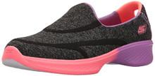 Skechers Kids Girls' Go Walk 4-Awesome Ombres Loafer, Black/Multi