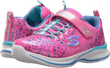 Skechers Kids Girls' Jumpin'Jams-Cosmic Cutie Sneaker,neon Pink/Multi,