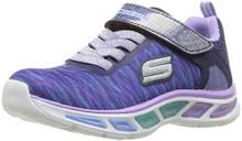 Skechers Kids Girls' Litebeams-Colorburst Sneaker, Navy/Lavender