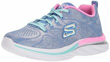 Skechers Kids Girls' Quick Kicks Sneaker,Periwinkle