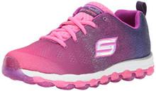 Skechers Kids Girls' Skech-Air Ultra-Sparkle City Sneaker,Hot Pink/Purple