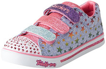 Skechers Kids Girl's Sparkle Glitz 10917L Lights (Little Kid/Big Kid) Blue/Multi