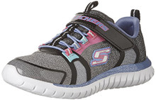 Skechers Kids Girls' Speed Trainer-Glimmer Time Sneaker,Black/Multi