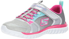 Skechers Kids Girls' Speed Trainer-Glimmer Time Sneaker,Gray/Multi