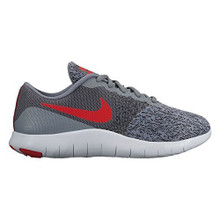 New Nike Boy's Flex Contact Athletic Shoe Grey/Red 6