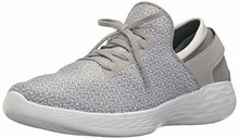 Skechers You by Women's You Inspire Slip-On Shoe,Gray,6.5 M US