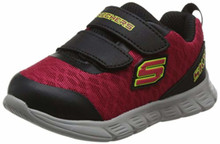 Skechers 95037N Toddlers Comfy Flex - Double Sprint Shoes, Red/Black