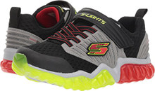 Skechers Kids Boy's Rapid Flash 90720L Lights (Little Kid/Big Kid) Black/Gray/Red Little Kid