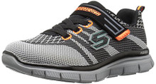 Skechers Kids Flex Advantage Master Mind Sneaker (Little Kid/Big Kid),Black/Grey, Little Kid
