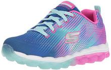 Skechers Girl's Skech-Air-Bounce N'Bop Sneaker,Blue/hot Pink, Big Kid