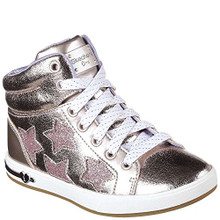 Skechers Kid's Shoutouts Starry Shine Girls Fashion Sneakers Rosegold Little Kid