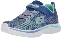 Skechers Kids Girls' Double Dreams Sneaker,Blue/Aqua Little Kid