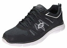 Skechers Verse Win Over Mens Fashion Sneakers, Black/Grey/Silver