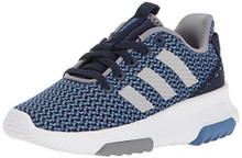 adidas Kids CF Racer TR Running Shoe, Collegiate Navy/Collegiate Navy/GreyBig Kid