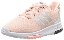 adidas Kids CF Racer TR Running Shoe, Haze Coral/Metallic Silver/White Toddler