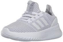 adidas Kids' Cloudfoam Ultimate Sneaker, White/White/Grey TwoLittle Kid
