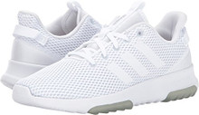 adidas Neo Women's Cf Racer Tr W Road-Running-Shoes,White/White/Matte Silver