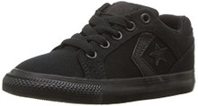 Converse Boys' El Distrito Twill Low Top Sneaker, Black/Black/BlackLittle Kid