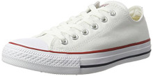 Converse Unisex Chuck Taylor All Star Low Top Optical White Sneakers Women /Men
