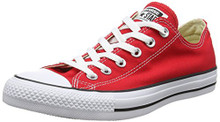 Converse Unisex Chuck Taylor All Star Low Top Red Sneakers Men /Women
