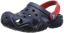 Crocs Kids' Swiftwater K Clog (Toddler/Little Kid), Navy/Flame Toddler