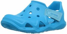 Crocs Kids' Swiftwater Wave K Slip-On, Ocean Toddler