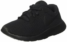 Nike Boy's Tanjun Running Sneaker, Black/Black Y