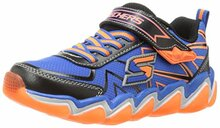 Skechers 97411/073 SKECHAIR 3 97411 Blue-Black-Orange Kids Everyday Shoes,Black/Blue/Orange Little Kid