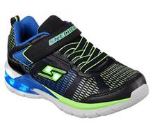 Skechers Kids Boys' Erupters II-Lava Waves Sneaker,Black/Blue/Lime Little Kid