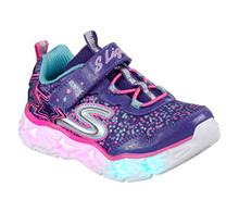 Skechers Kids' Galaxy Lights Sneaker,Purple/Multi Little Kid