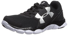 Under Armour Boys' Engage Bungee Lace Alternate Lace,Black (001)/White