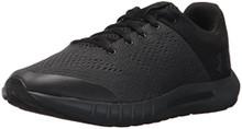 Under Armour Boys' Grade School Pursuit Sneaker, Anthracite (100)/Black