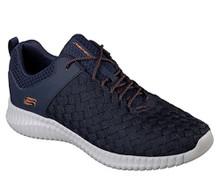Skecher 52864 Men's Elite Flex - Belser Shoe (US M) (9.5, Navy)