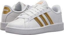 adidas Originals Women's CF Advantage W Sneaker, FTWR White, Matte Gold, Core Black, 7.5 M US