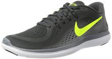 NIKE Men's Flex RN 2017 Running Shoe Anthracite/Volt/Cool Grey/Black Size 9 M US