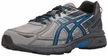 ASICS Men's Gel-Venture 6 Running Shoe, Aluminum/Black/Directoire Blue, 10.5 Medium US