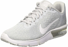 Nike Air Max Sequent 2 Pure Platinum/White/Wolf Grey Women's Running Shoes Size 8.5
