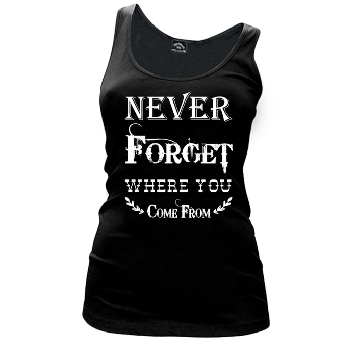 Women's Never Forget Where You Come From - TANK TOP