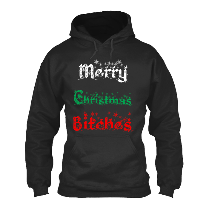 Women's MERRY CHRISTMAS BITCHES - HOODIE