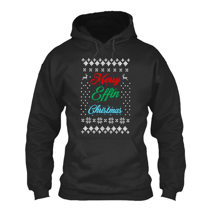 Men's Merry Effin Christmas - HOODIE