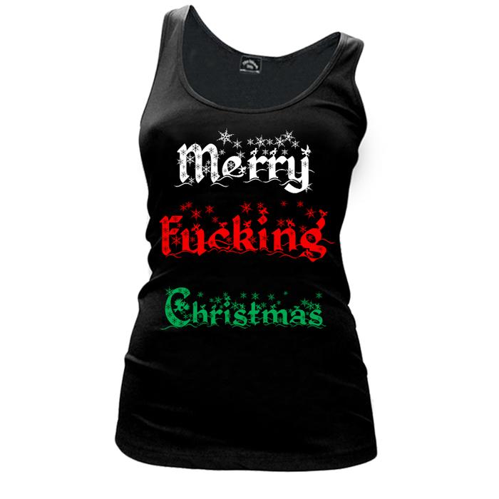 Women's MERRY FUCKING CHRISTMAS (V1) - TANK TOP