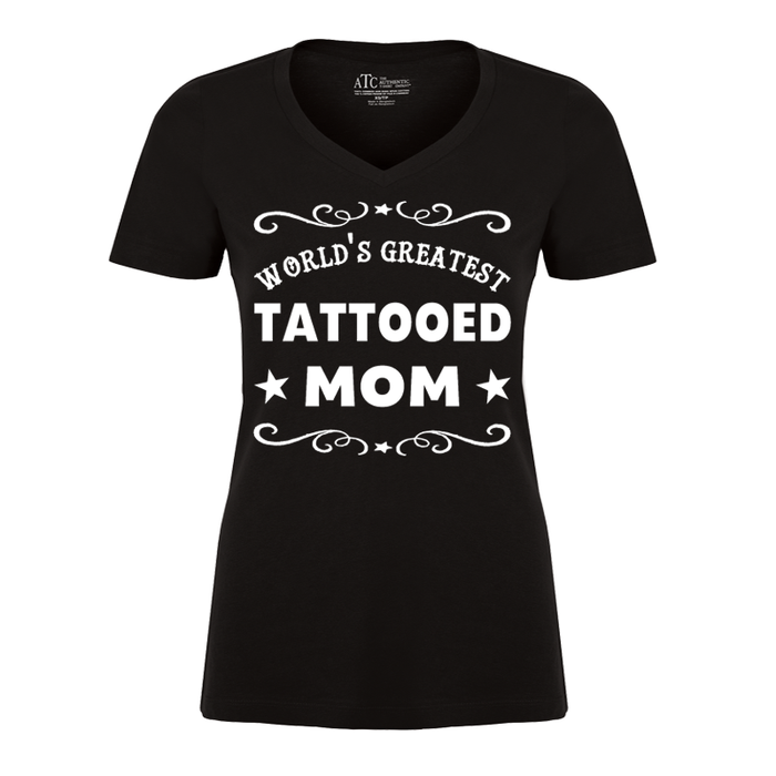 Women's WORLD'S GREATEST TATTOOED MOM - TSHIRT